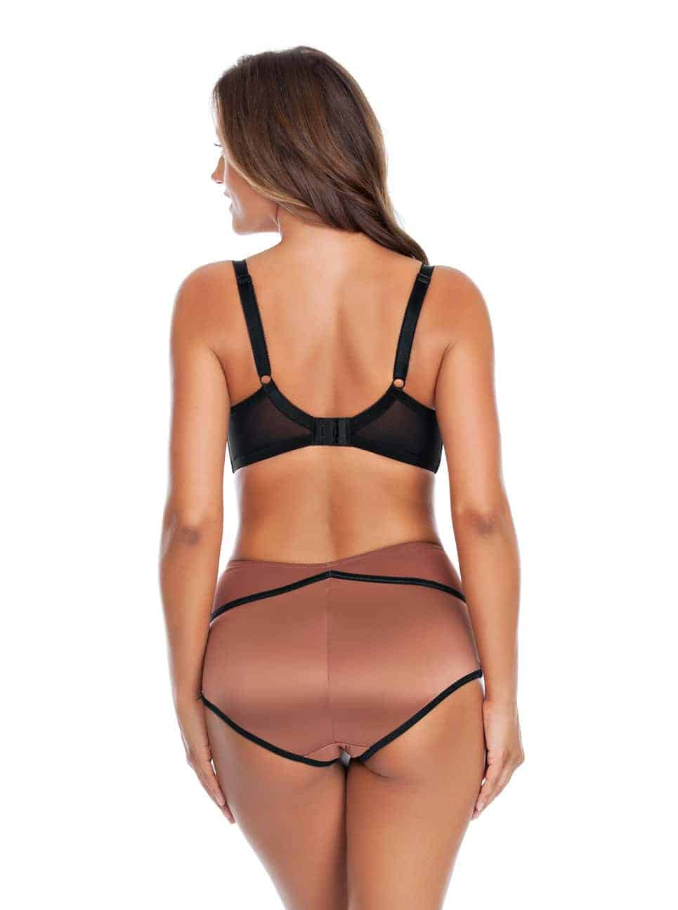 Charlotte PaddedBra6901 HighwaistBrief6917 Bronze Back - Charlotte Highwaist Brief - Bronze - 6917