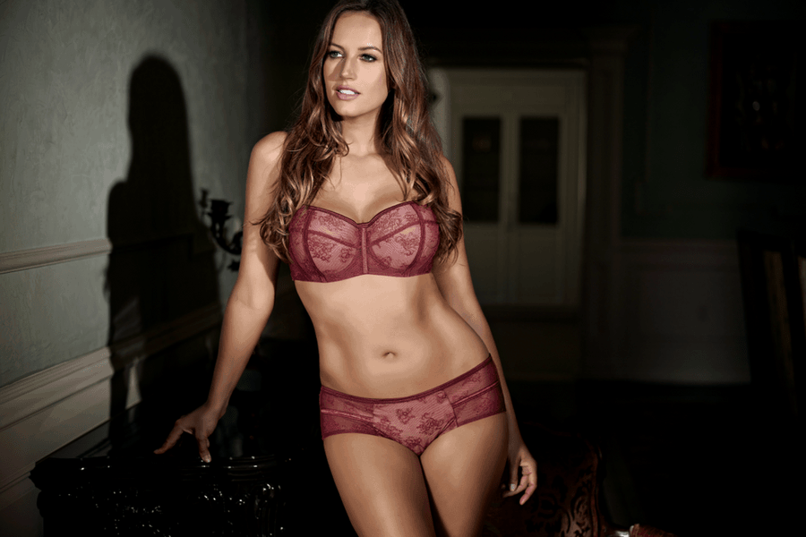 lingerie we love burgundy and lace parfait estelle balconette bra