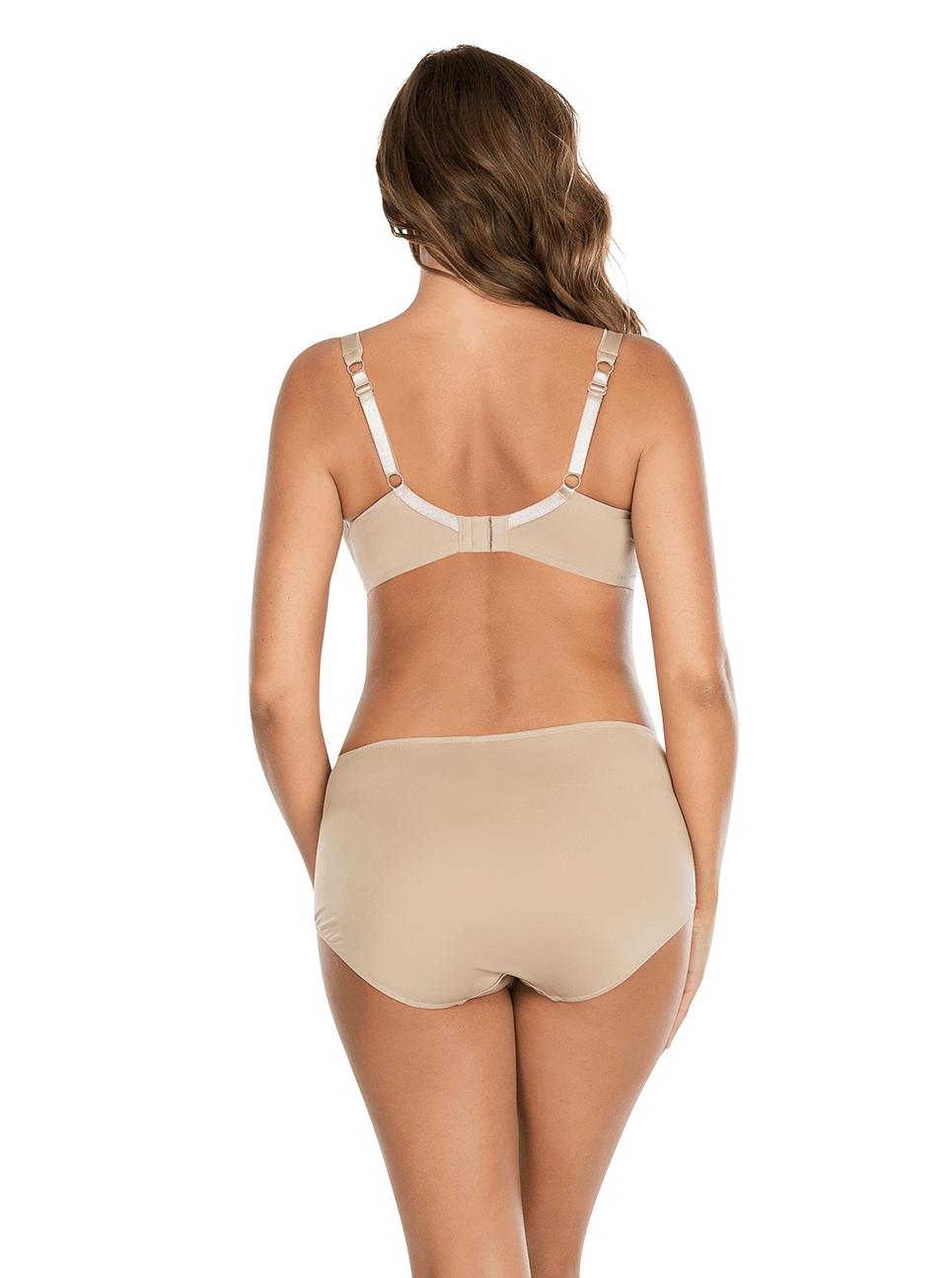 Jeanie TShirtBra4812 HighCutBrief4803 Back - Jeanie T-Shirt Bra European Nude 4812