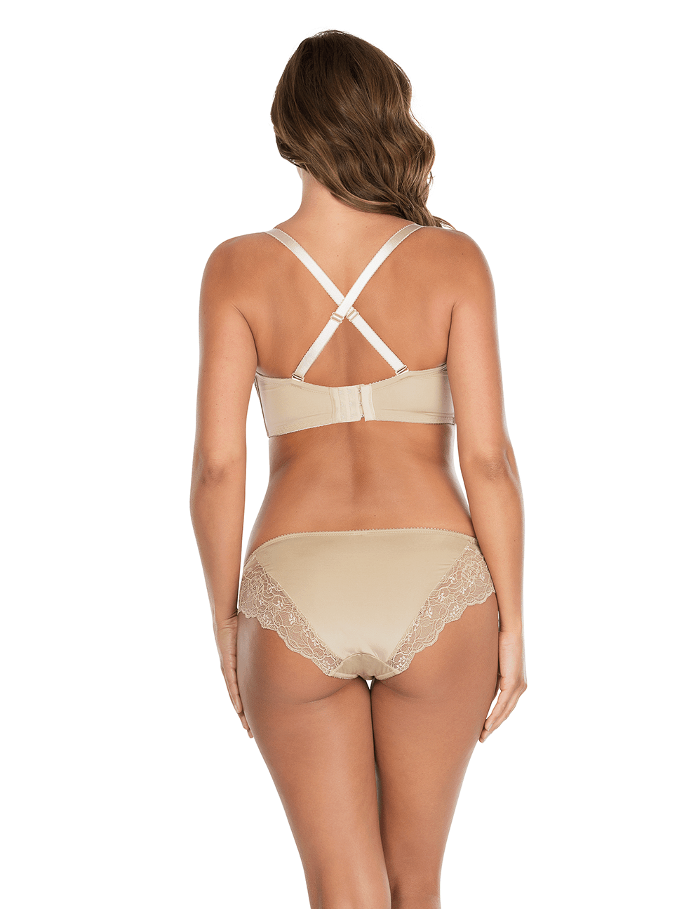 Elissa ContourUnderwireBraP5011 BikiniP5013 ENude Cross Back - Elissa Strappless Bra - European Nude - P5011