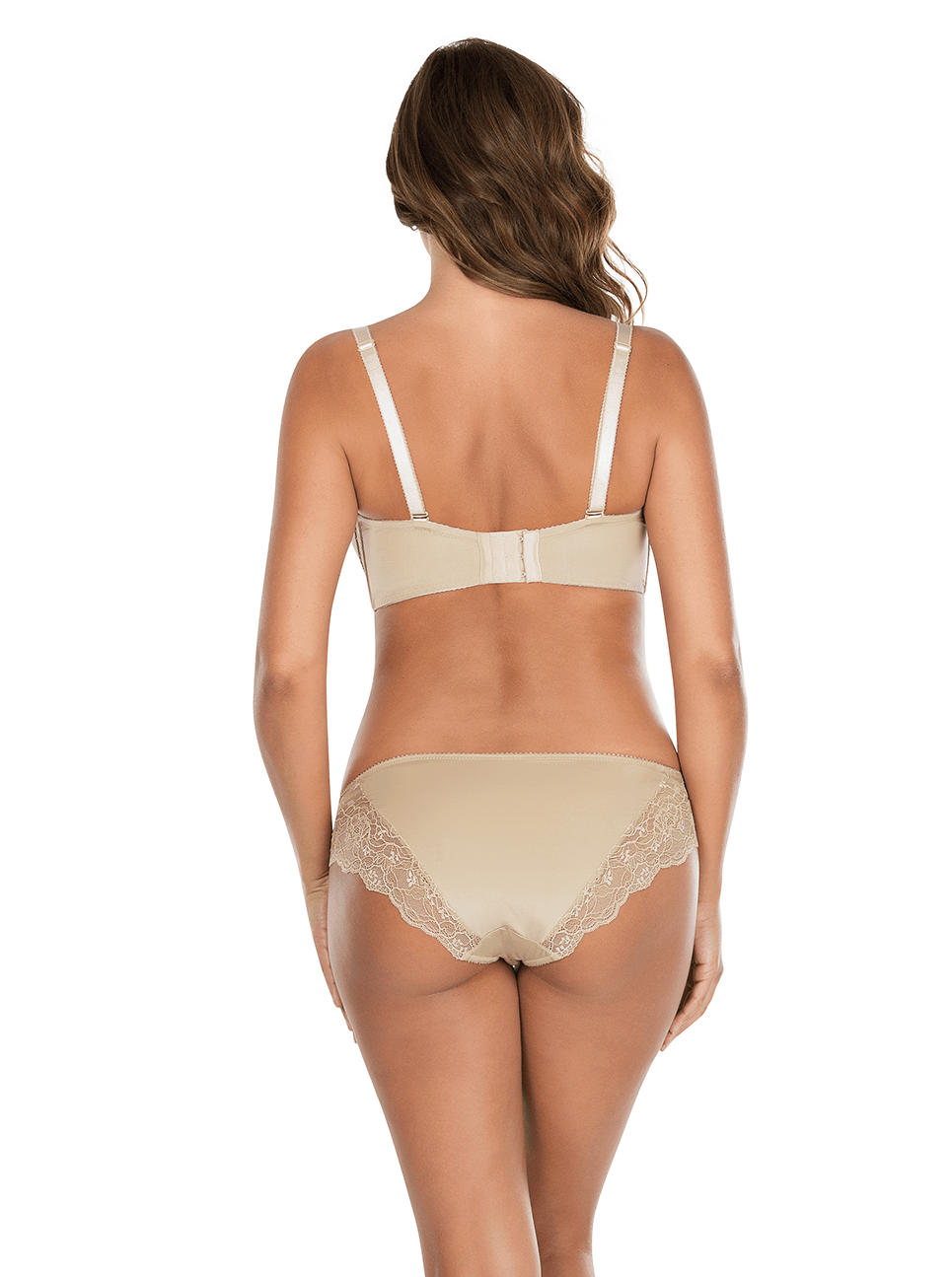 Elissa ContourUnderwireBraP5011 BikiniP5013 ENude Back - Elissa Strappless Bra - European Nude - P5011