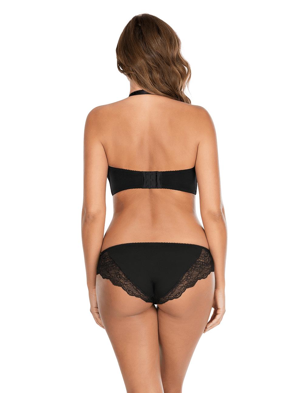 Elissa ContourUnderwireBraP5011 BikiniP5013 Black Halter Back - Elissa Strapless Bra Black P5011