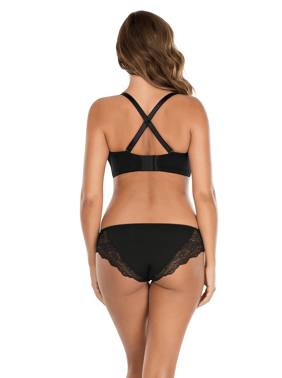 Elissa ContourUnderwireBraP5011 BikiniP5013 Black Cross Back - Elissa Strapless Bra Black P5011