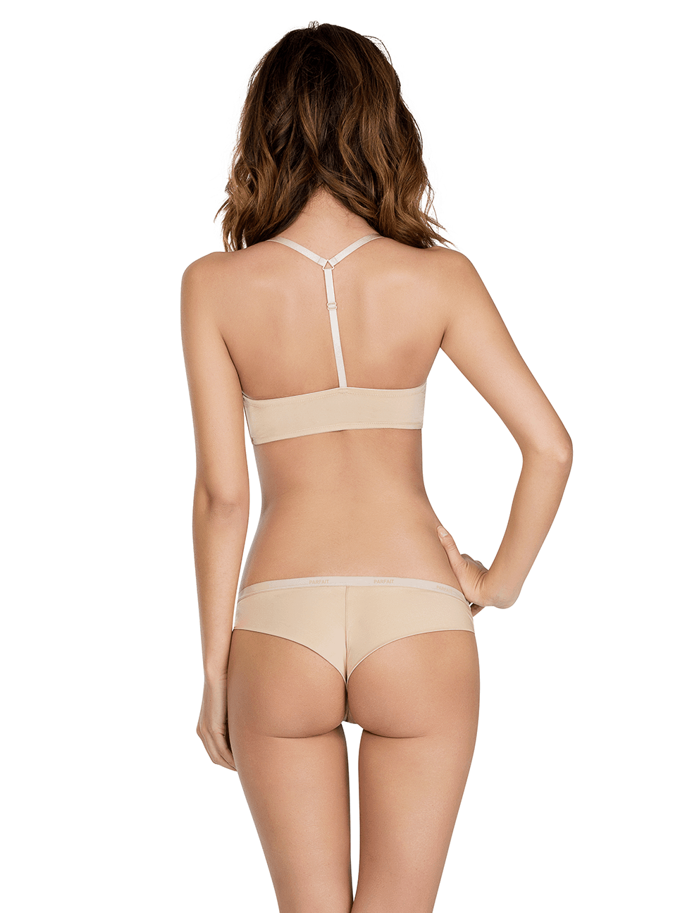 Lynn YBackFrontClosureBraP13122 BrazilianThongP13014 EuropeanNude Back - Lynn Y-back Front Closure Bra - European Nude - P13122