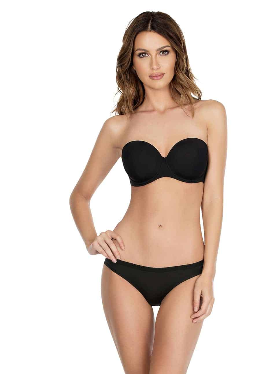 Lynn P13112 P13013Strapless - Lynn Push-up Strapless Bra - Black - P13112