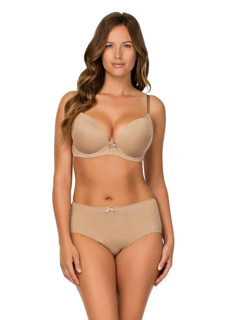 Jeanie PlungeMoldedBra4801 HighCutBrief4803 EuropeanNude - Jeanie High-Cut Brief - European Nude - 4803