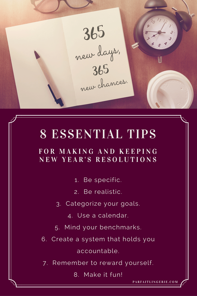 8 Essential Tips for Making and Keeping New Years Resolutions 5 - 8 Essential Tips for Making and Keeping New Year's Resolutions