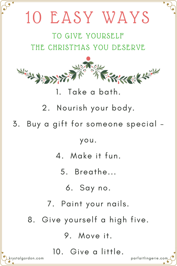 10 Easy Ways To Give Yourself The Christmas You Deserve