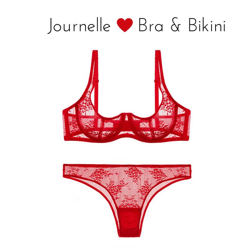 journelle romy demi bra bikini red