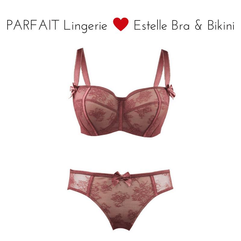 parfait estelle p52312 p5233 bra bikini merlot set