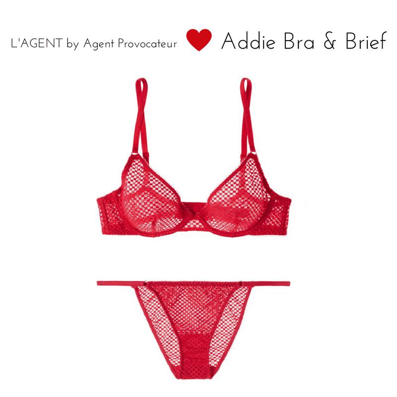 l'agent addie bra and brief red