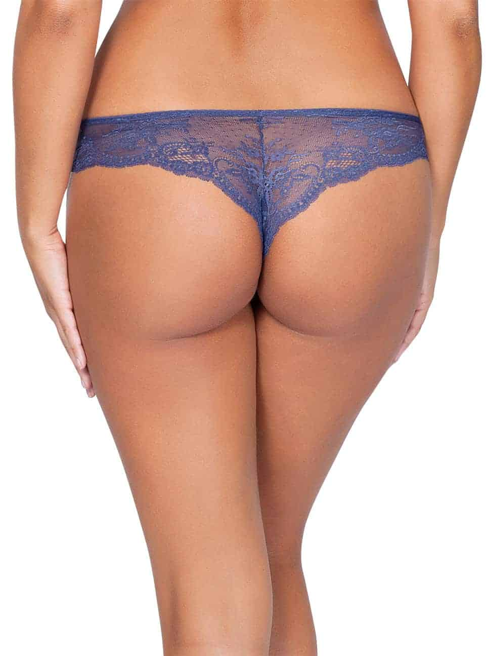 Sandrine P5354 BrazillianThong FrenchBlueBack - Sandrine Brazilian Thong - French Blue - P5354