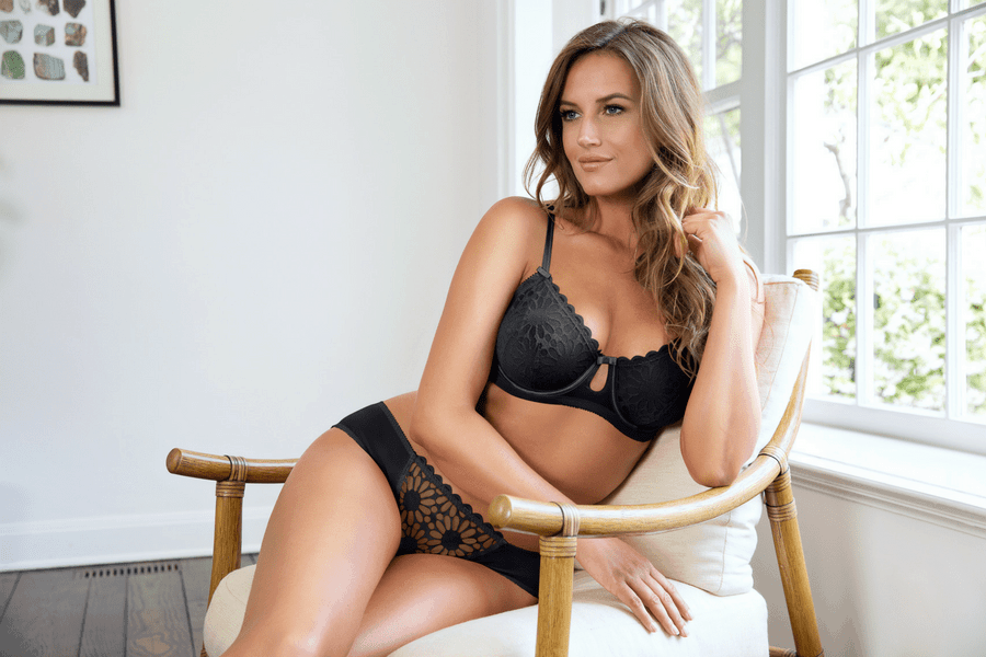 parfait irene unlined wire bra black - Lingerie We Love - Black Lace Bras