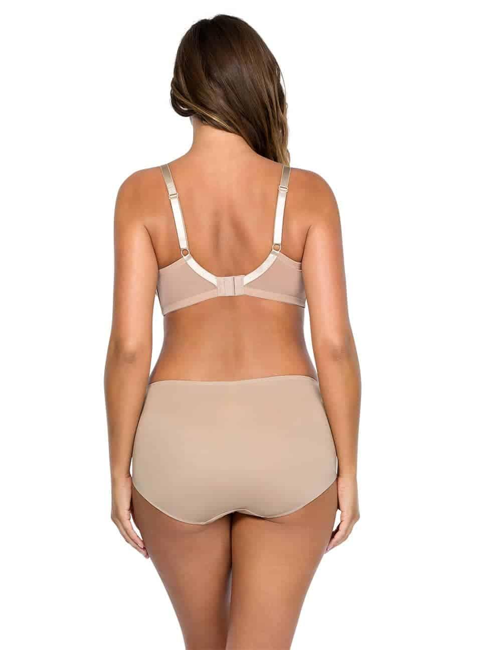 Jeanie StraplessContourBra4815 Hipster4805 ENude Back - Jeanie Strapless Contour Bra - European Nude - 4815