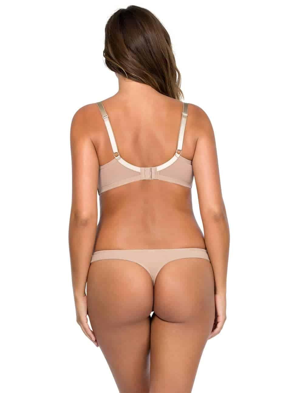 Jeanie PlungeMoldedBra4801 Thong4804 Enude Back - Jeanie Thong - European Nude - 4804
