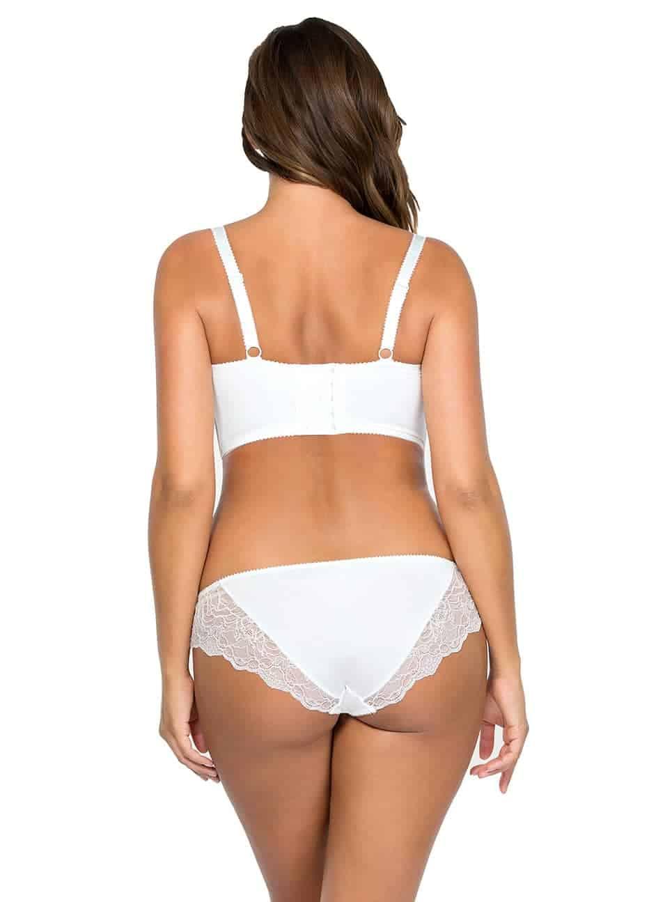 Elissa Unlined Wire BraP5012 BrazilianThongP5014 PearlWhite Back - Elissa Bikini - Pearl White - P5013