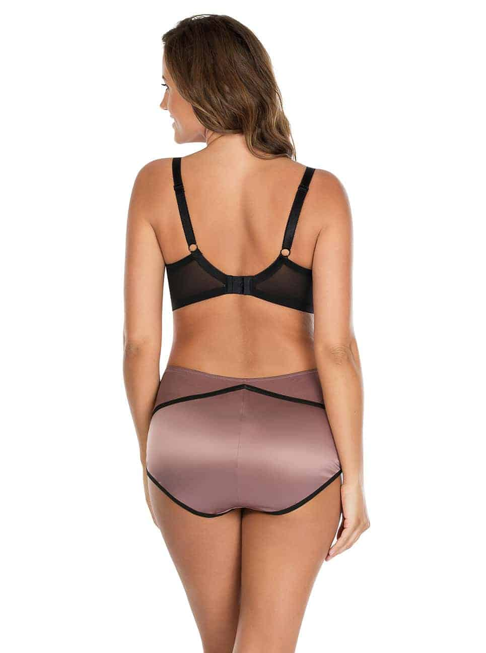 Charlotte PaddedBra6901 HighwaistBrief6917 Woodrose Back - Charlotte Highwaist Brief - Woodrose - 6917