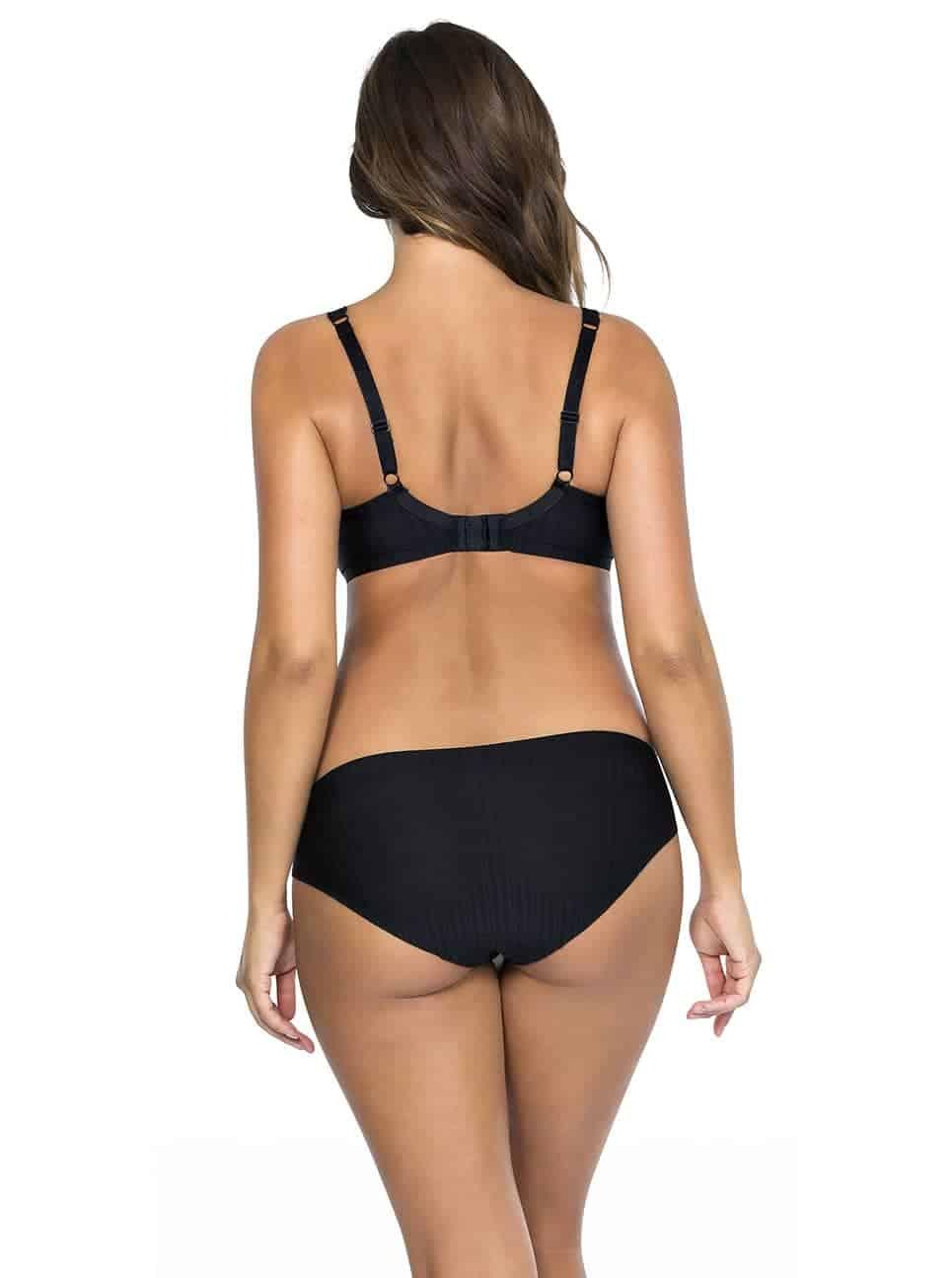 Aline TShirtBraP5251 BikiniP5253 Black Back - Aline T-shirt Bra - Black - P5251