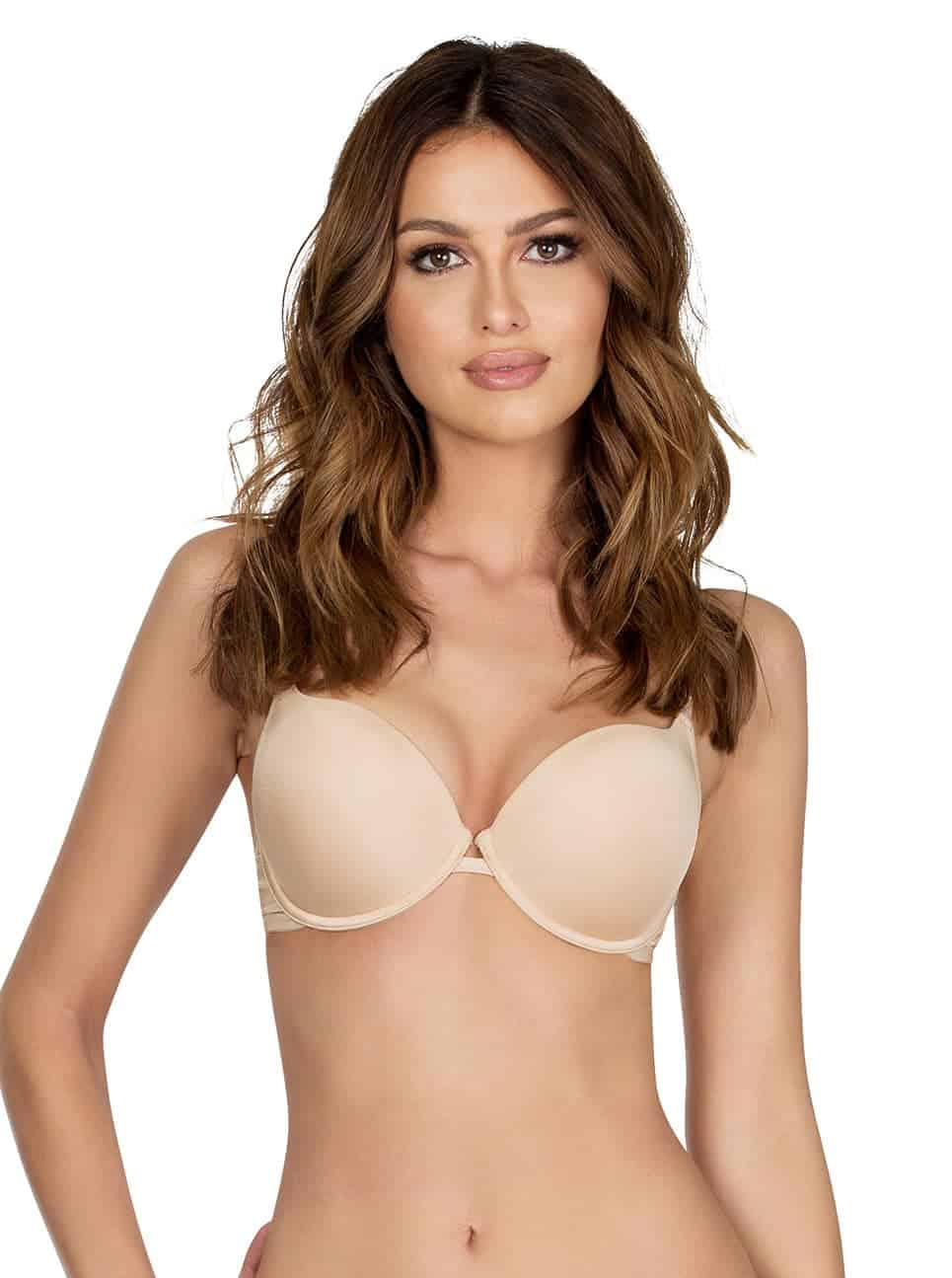 Lynn SuperPush UpBraP13021 Nude Front - Lynn Super Push-up Bra - European Nude - P13021