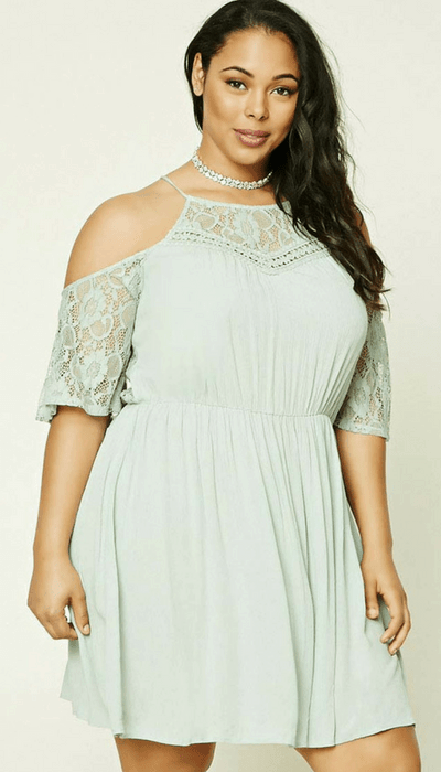 Forever 21 Plus Size Open Shoulder Dress
