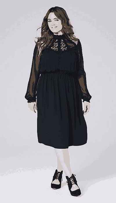 simply be high neck dress