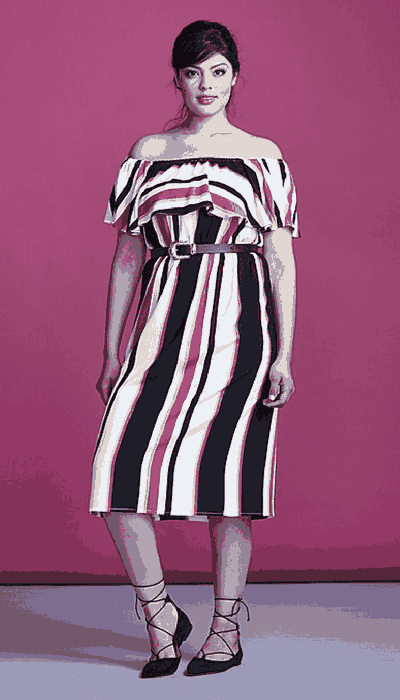 simply be stripe midi dress
