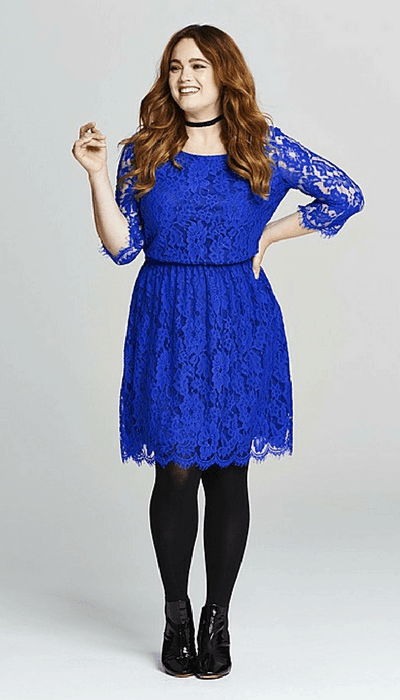 simple be lace dress cobalt blue