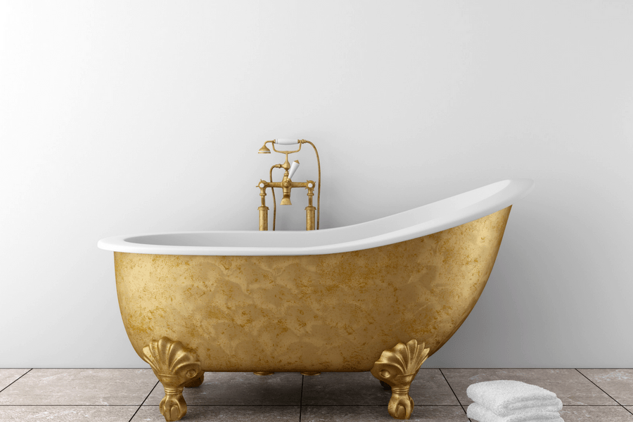 gold bathtub schedule some me time