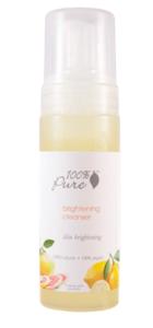 100 percent pure brightening facial cleanser