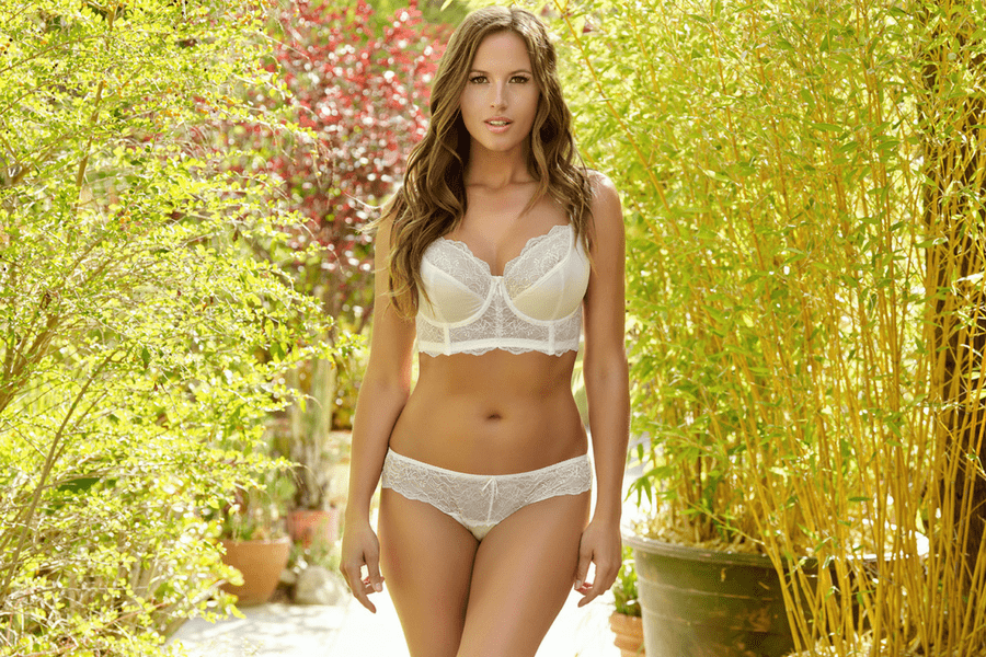 elissa unlined wire bralette brazilian thong pearl white 1 - The Only 8 Bras You Need In Your Spring Wardrobe