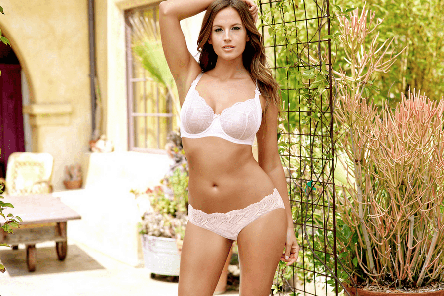 lucie unlined wire bra and brief barely pink - The Only 8 Bras You Need In Your Spring Wardrobe
