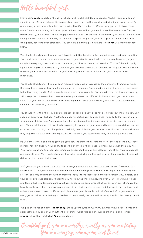 letter to 15 year old self krystal gordon