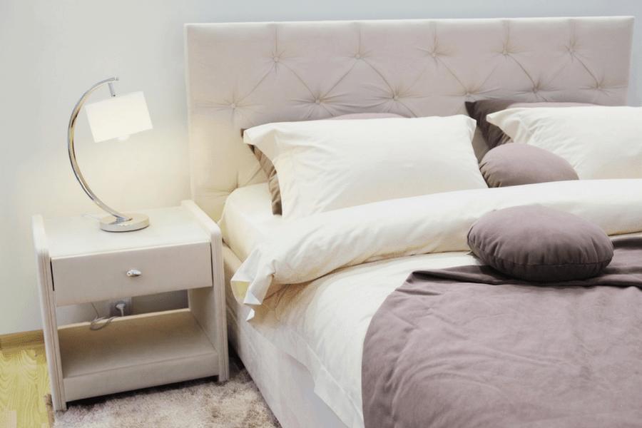 purple bed beauty sleep