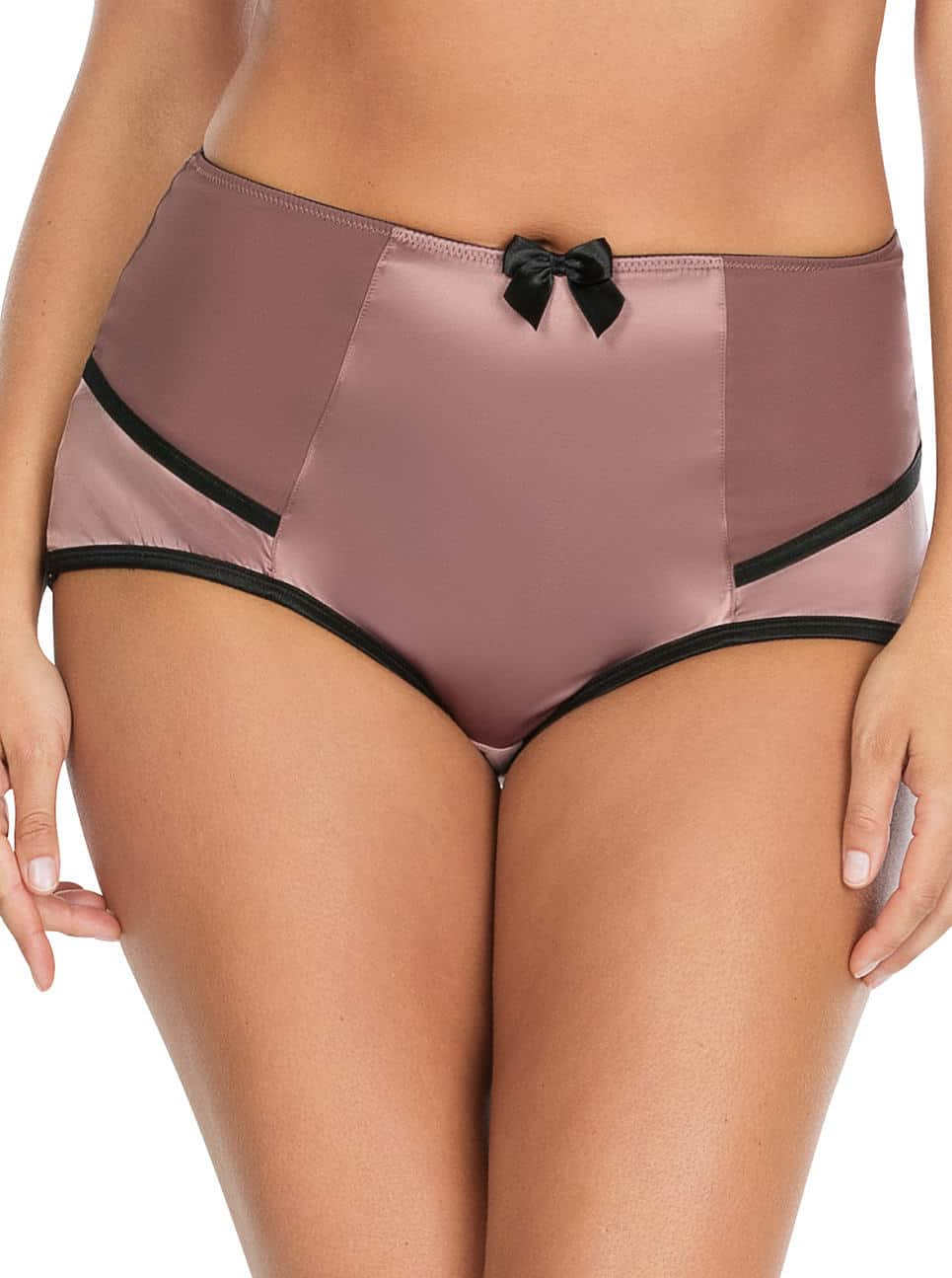 Charlotte HighwaistBrief6917 Woodrose Front - Charlotte Highwaist Brief - Woodrose - 6917