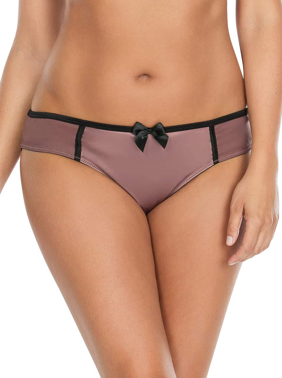 Charlotte Bikini6905 Woodrose Front - Charlotte Bikini - Woodrose Black - 6905