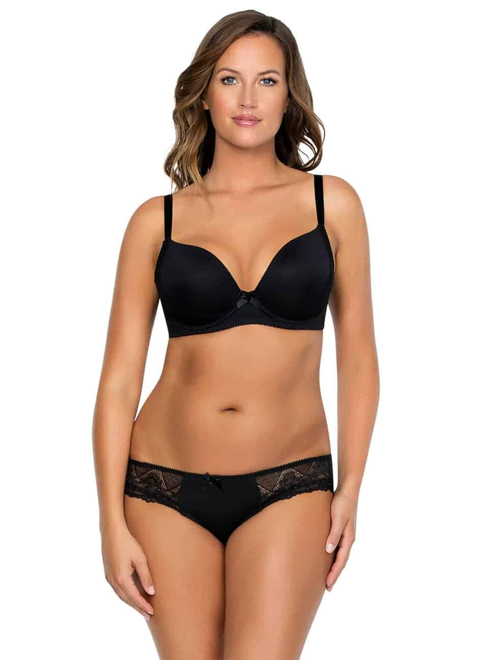 Casey PlungeMoldedBra2801 Brief2803 Black Front copy 2 - Casey Brief - Black - 2803