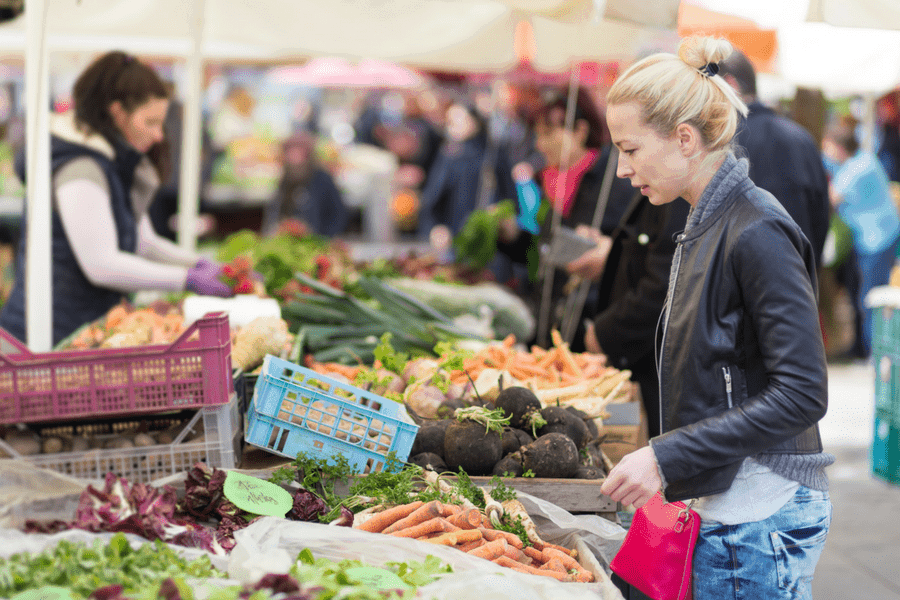 visit your local farmer market - 3 Simple Swaps To Save You $300 This Month
