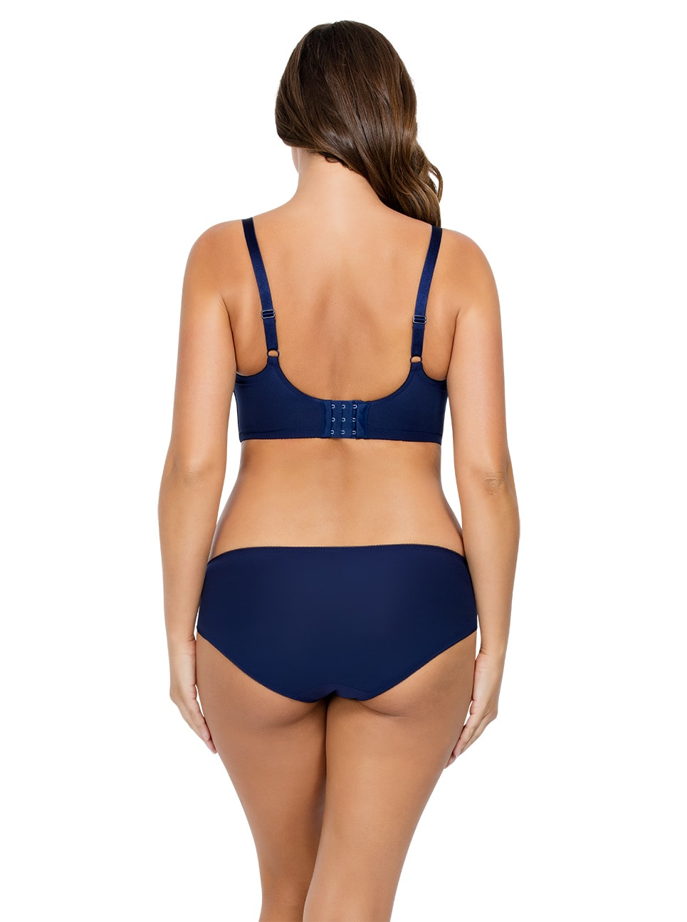 PARFAIT Cora UnlinedLonglineBraP5632 BikiniP5633 NavyBlue Back copy 2 - Cora Bikini - Navy Blue - P5633