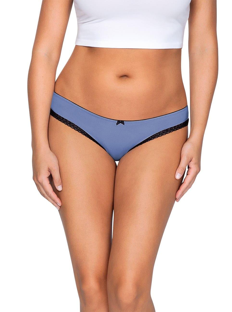 ParfaitPantyBikini PP301 C SilverBlueFront main - Panty So Lovely Bikini Silver Blue PP301