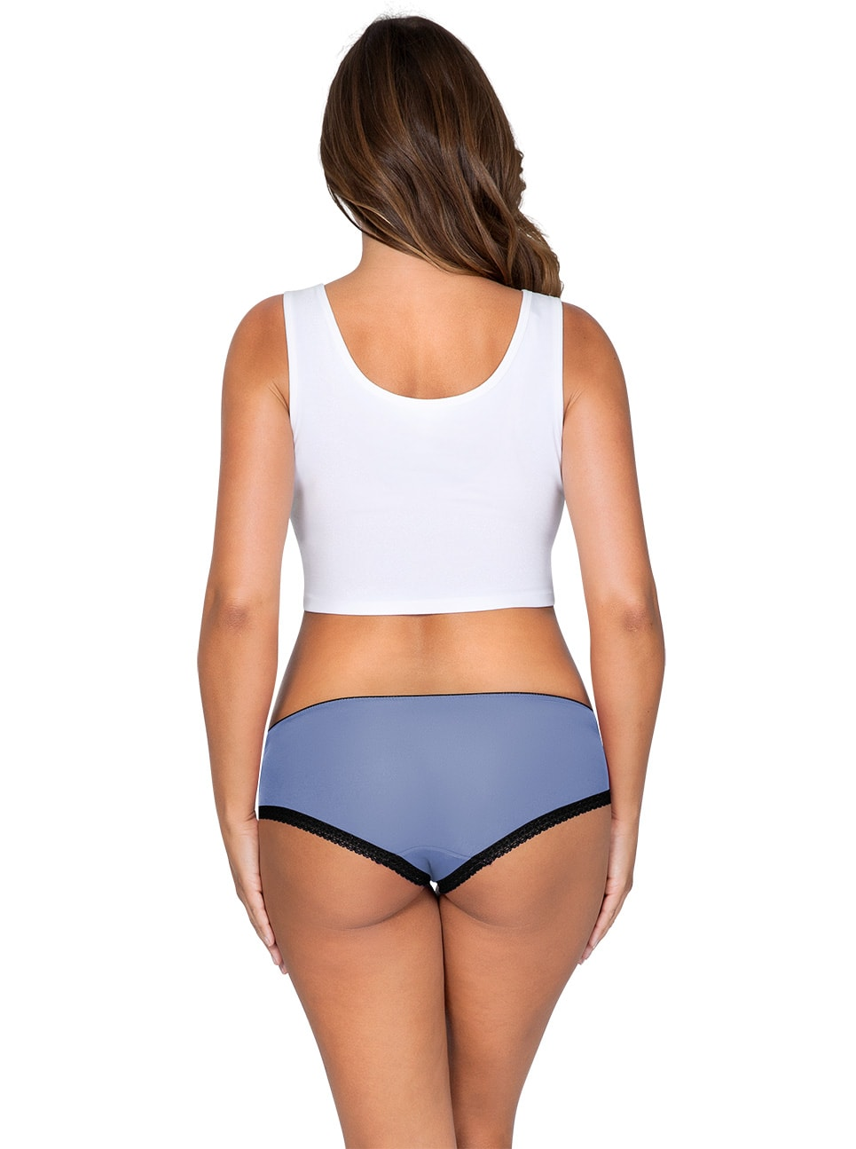 ParfaitPantyHipster PP501 C SilverBlueBack - So Lovely Hipster Silver Blue PP501