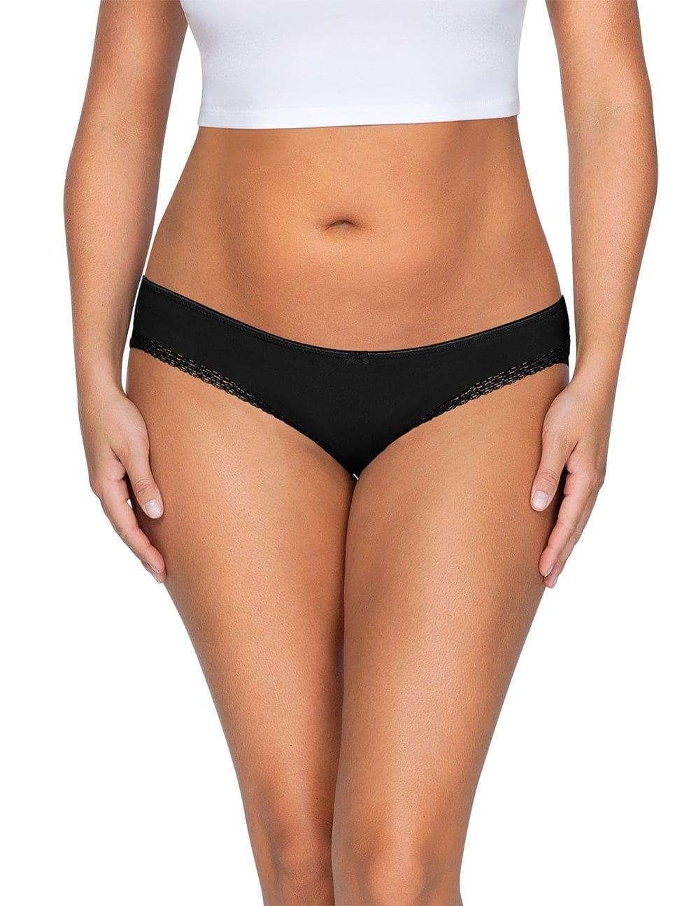ParfaitPantyBikini PP301 A BlackFront main - Panty So Lovely Bikini Black PP301
