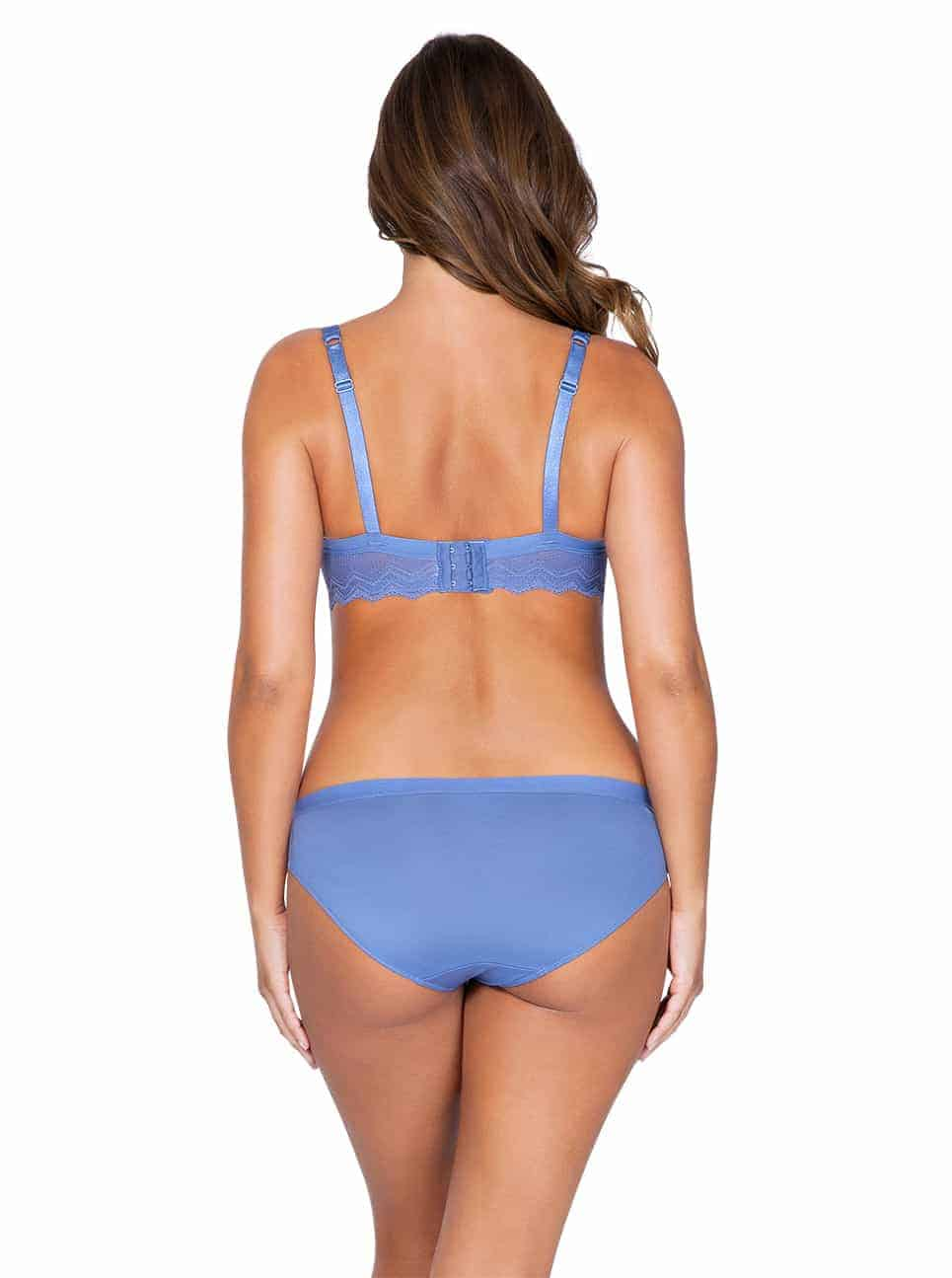 Lydie P5441ContourPadded P5443 Bikini SilverBlueBack - Lydie Contour Padded Bra – Silver Blue – P5441