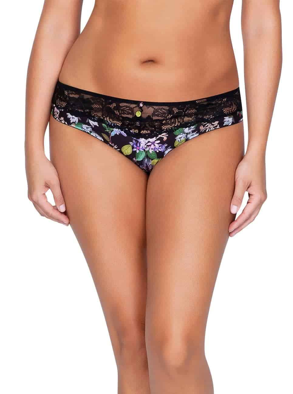 Ava P5373 BikiniFront - Ava Bikini - Black Floral - P5373