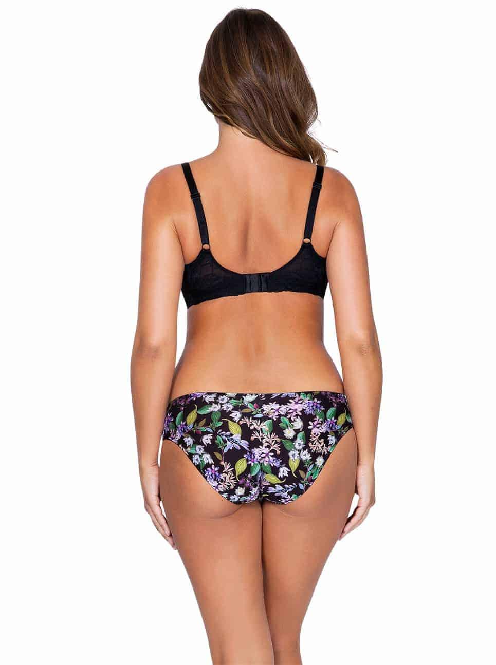 Ava P5371 PaddedBra P5373 BikiniBack - Ava Padded Bra - Black Floral - P5371