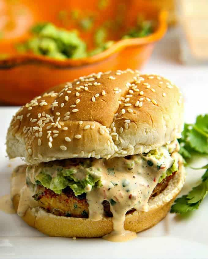 a dish of daily life chicken burger - 12 Refreshing Dinner Dishes Perfect for Hot Weather