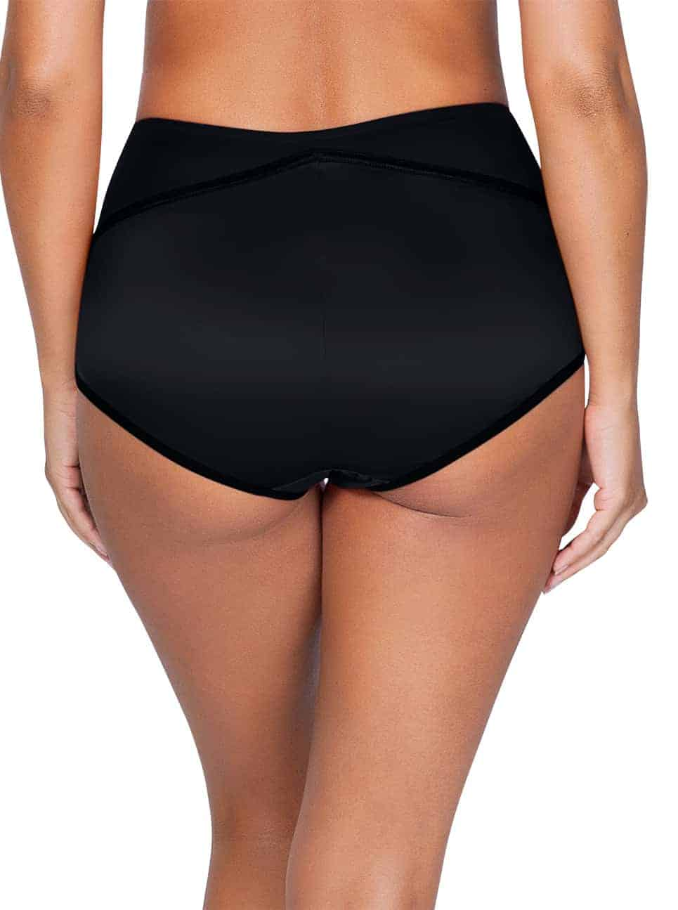 Charlotte 6917 HighWaistedBriefBlack Back - Charlotte Highwaist Brief - Black - 6917