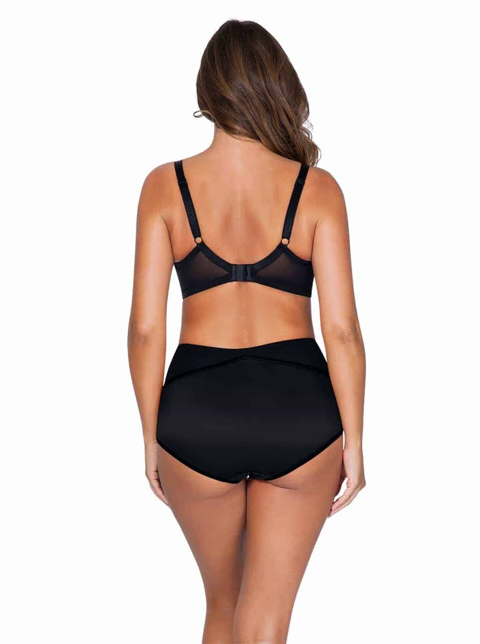 Charlotte 6901 6917 HighWaistedBriefBlack Back - Charlotte Highwaist Brief - Black - 6917