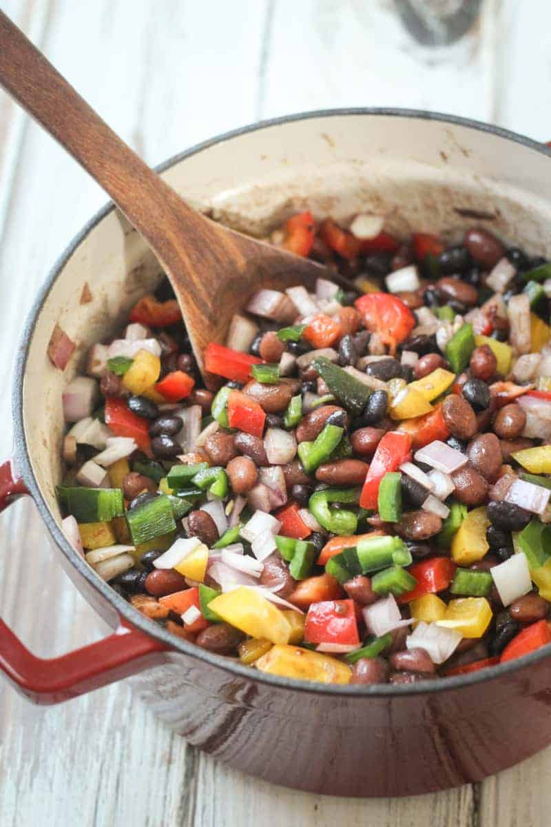 mexican three bean and three pepper salad the wanderlust kitchen - 14 Easy Meals For 2 On A Budget