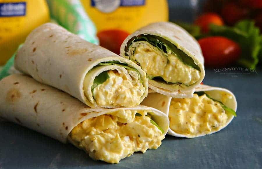 egg salad spinach wraps kleinworth co - 14 Easy Meals For 2 On A Budget