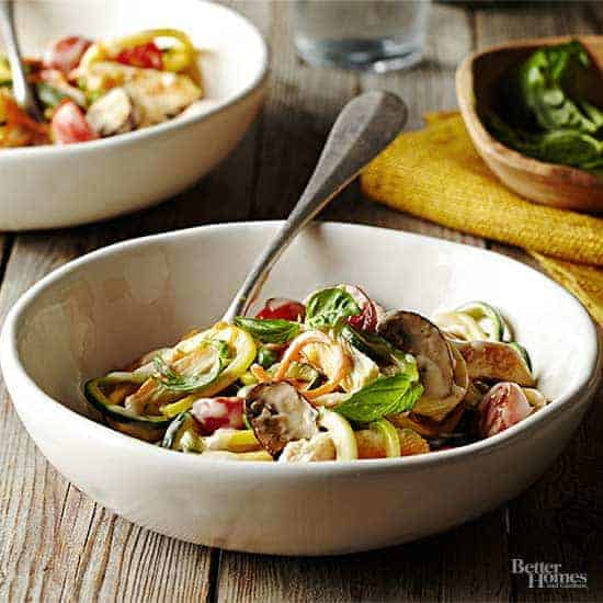 triple veggie pasta better homes and gardens - 14 Easy Meals For 2 On A Budget